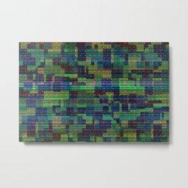 Abstract Glitch Pattern Metal Print
