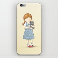 dorothy iPhone & iPod Skins featuring Dorothy by Amanda Francey