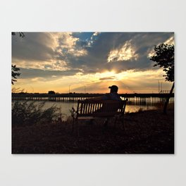 Patiently waiting for your love... Canvas Print