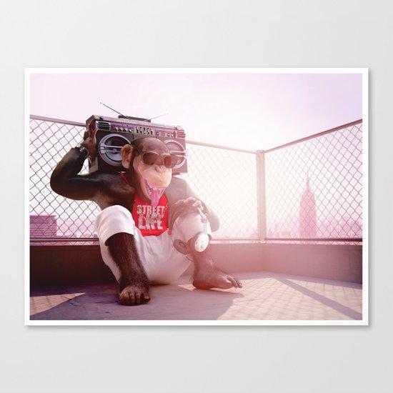 Monkey Beat Canvas Print