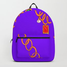 Necklace, bling, precious gems Backpack