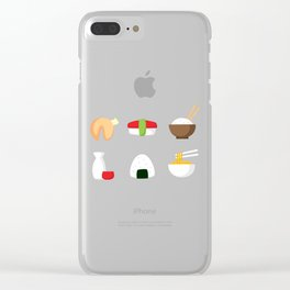 Sushi and Noodles Clear iPhone Case