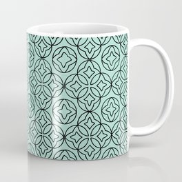 Ancient Pattern Illustration in Blue Coffee Mug