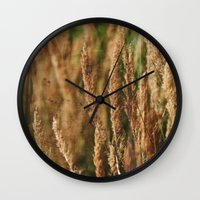 grass Wall Clocks featuring grass by Artemio Studio