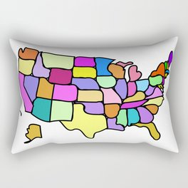 American States Clipart Drawing Rectangular Pillow
