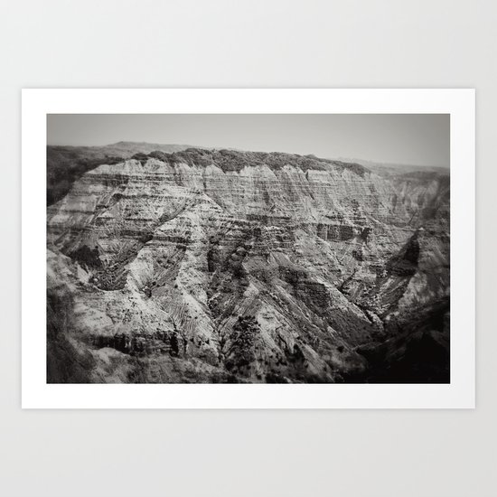 Retro Canyon Art Print