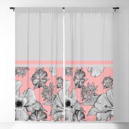 Floral + Solids Blackout Curtain