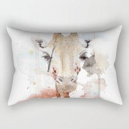 Sweet Portrait of a Giraffe Rectangular Pillow
