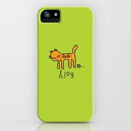 Cute Cat &joy Doodle Drawing iPhone Case