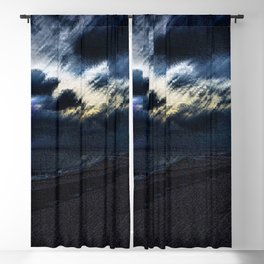 Twilight Lightning and Lighthouse Landscape by Jeanpaul Ferro Blackout Curtain