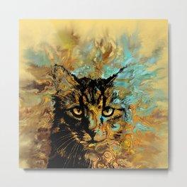 Cat 617 Metal Print