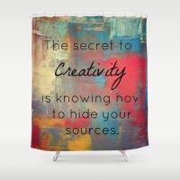 creativity Shower Curtains featuring Creativity by My Joie De Vivre