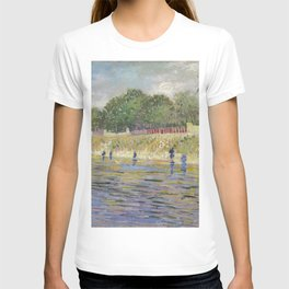 Bank of the Seine by Vincent van Gogh T-shirt