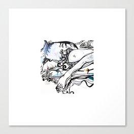 Surfing Feet Canvas Print
