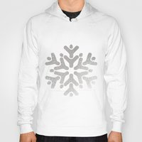 snowflake Hoodies featuring Snowflake by iMei