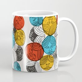 Many Faces Coffee Mug
