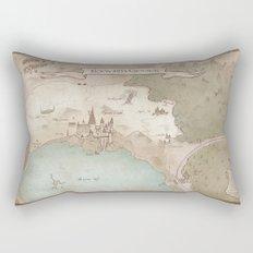 Map of Hogwarts Rectangular Pillow