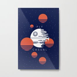 Fly Casual Metal Print