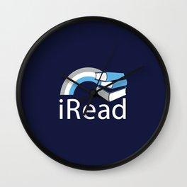 i Read | Book Nerd Slogan Wall Clock