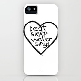 singers heart iPhone Case