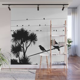 Birds on a wire Wall Mural