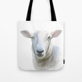 Watercolor Sheep Tote Bag