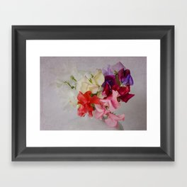 Sweet Peas Framed Art Print