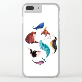 Arctic animals Clear iPhone Case
