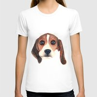 beagle T-shirts featuring Beagle by Carmen Lai Graphics