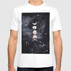 Moon Phases Mens Fitted Tee MEDIUM White