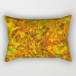 Winter Wildflowers Rectangular Pillow