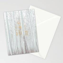 White tree forest Stationery Cards