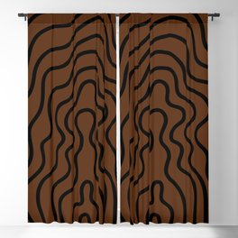 Music Line Vibes Brown Blackout Curtain
