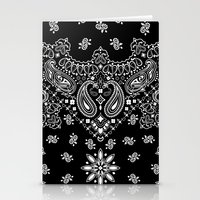 2pac Stationery Cards featuring black and white bandana by Marta Olga Klara