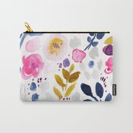 Pink Affair Floral Carry-All Pouch