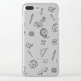 School pattern on white Clear iPhone Case