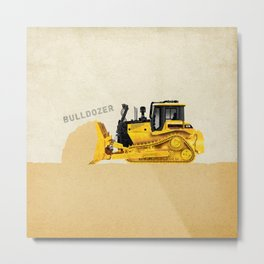 Construction Bulldozer Metal Print