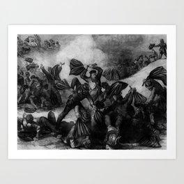 The Battle of Fort Pillow Art Print