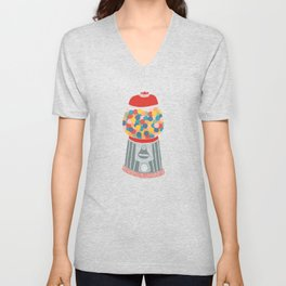 Gum Ball Machine Unisex V-Neck