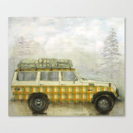 Plaid Land Cruiser Canvas Print