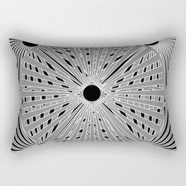 5 circles black background Rectangular Pillow