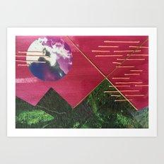 Mountain Night Art Print