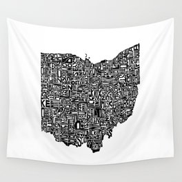Typographic Ohio Wall Tapestry