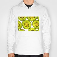 kiwi Hoodies featuring Kiwi Fruit by Bruce Stanfield