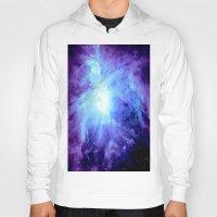 nebula Hoodies featuring NEBula Purple Periwinkle Blue by GalaxyDreams