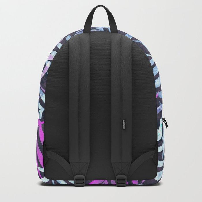 Watercolor Tropical Palm Leaves X Backpack