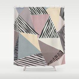 Modern irregular Stripes 03 Shower Curtain
