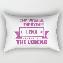 The woman the myth Lena the legend name gift Rectangular Pillow