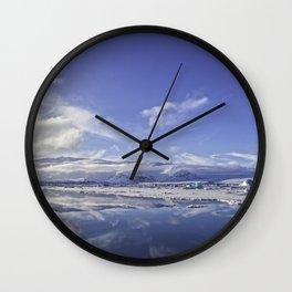Glacial Lagoon 06 Wall Clock