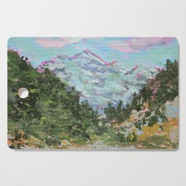 Colorado Landscape Painting Cutting Board